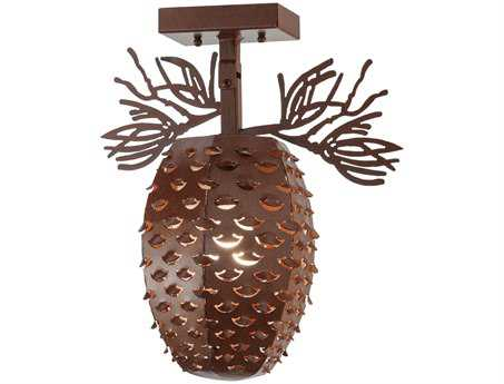 Meyda Tiffany Stoneycreek Pinecone Semi-Flush Mount Light