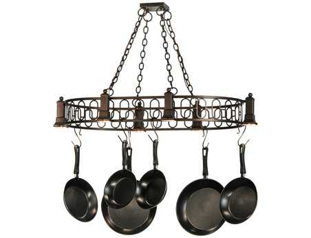 Meyda Tiffany Deco Oblong Six-Light Pot Rack