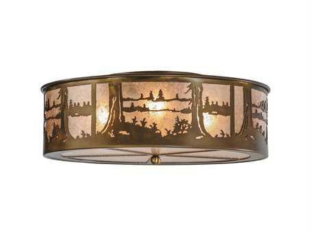 Meyda Tiffany Quiet Pond 100-Light Flush Mount Light