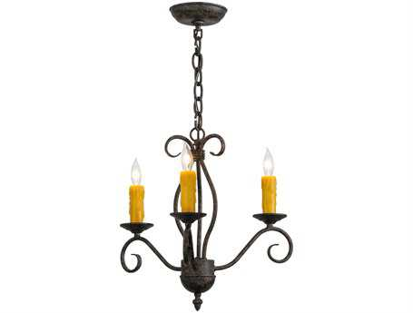 Meyda Tiffany Sienna Three-Light 18 Wide Mini Chandelier