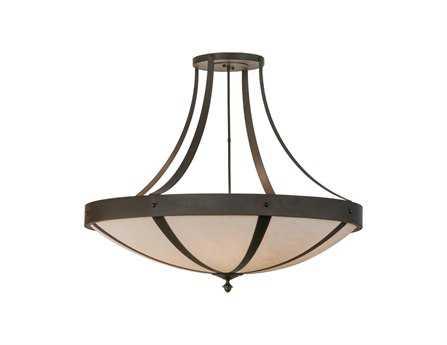 Meyda Tiffany Urban Spoked Six-Light Semi-Flush Mount Light