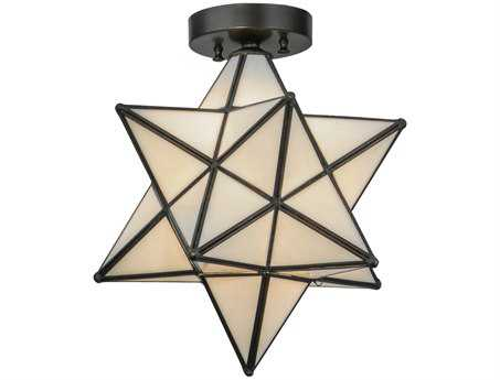 Meyda Tiffany Moravian Star White Flush Mount Light