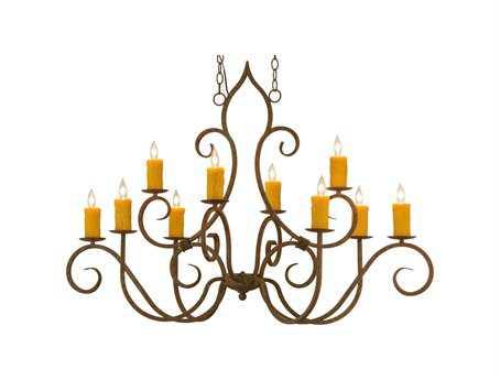 Meyda Tiffany Clifton Ten-Light Oblong Grand Chandelier