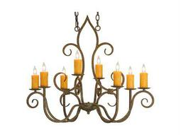 Meyda Tiffany Clifton Oblong Eight-Light Chandelier