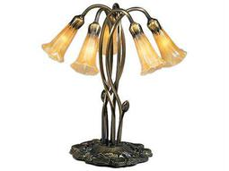 Meyda Tiffany Pond Lily Amber Accent Table Lamp
