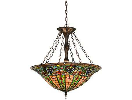 Meyda Tiffany Bella Inverted Four-Light Pendant