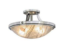 Meyda Tiffany Metro Fusion Branches Two-Light Flush Mount Light
