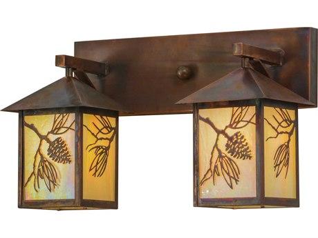 Meyda Tiffany Balsam Pine Two-Light Vanity Light