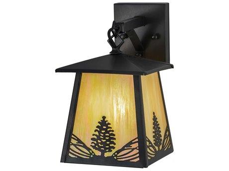 Meyda Tiffany Mountain Pine Hanging Outdoor Wall Light