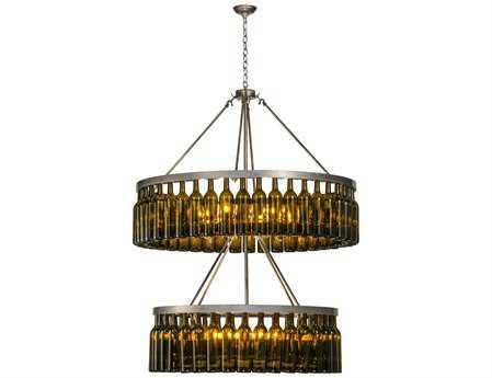 Meyda Tiffany Tuscan Vineyard Estate 2 Tier 80 Wine Bottle 80-Light 46 Wide Grand Chandelier