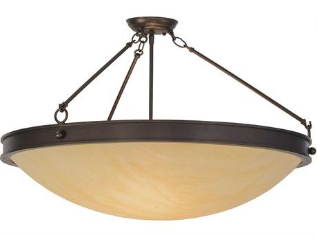 Meyda Tiffany Dionne Three-Light Semi-Flush Mount Light