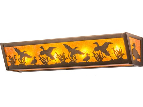 Meyda Tiffany Ducks In Flight Four-Light Vanity Light
