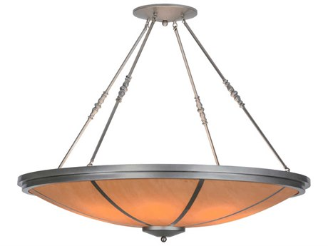 Meyda Tiffany Commerce Eight-Light Semi-Flush Mount Light