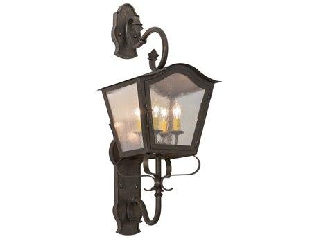 Meyda Tiffany Christian Four-Light Lantern Outdoor Wall Light