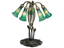 Meyda Tiffany Pond Lily Green Accent Table Lamp
