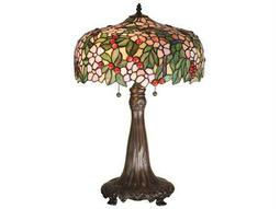Meyda Tiffany Cherry Blossom Multi-Color Table Lamp