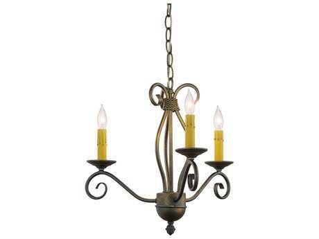 Meyda Lighting Sienna French Bronze Three-Light 18'' Wide Mini Chandelier