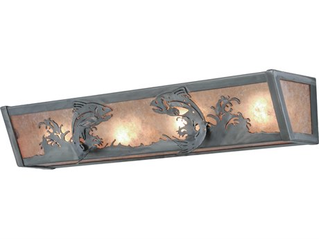 Meyda Tiffany Leaping Trout Four-Light Vanity Light