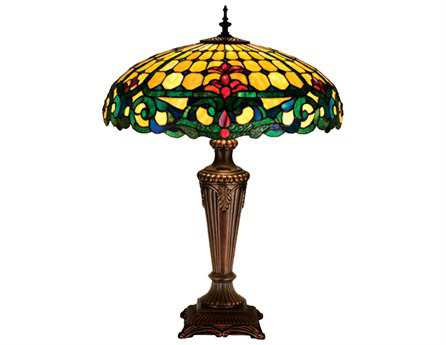 Meyda Tiffany Duffner & Kimberly Colonial Multi-Color Table Lamp