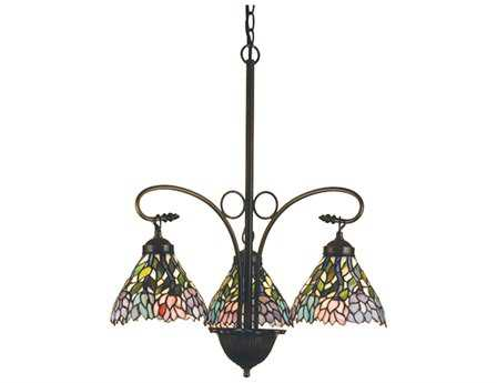 Meyda Tiffany Wisteria Three-Light 23 Wide Grand Chandelier