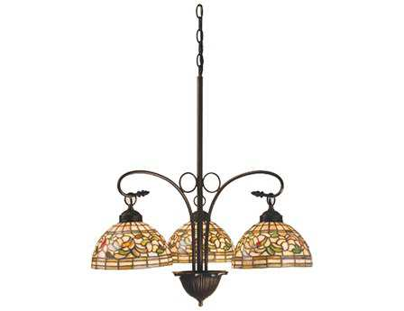 Meyda Tiffany Turning Leaf Three-Light 24 Wide Grand Chandelier