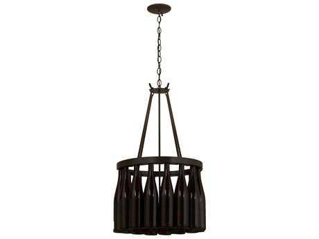 Meyda Lighting Tuscan Vineyard Estate Timeless Bronze Five-Light 17'' Wide Chandelier