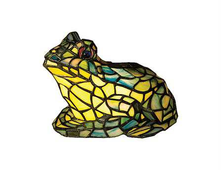 Meyda Tiffany Frog Tiffany Glass Multi-Color Accent Table Lamp