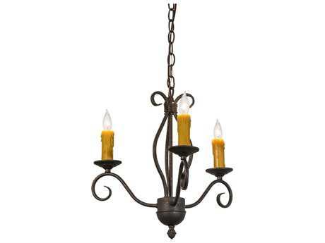 Meyda Lighting Sienna Copper Rust Three-Light 18'' Wide Chandelier