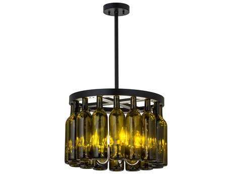Meyda Lighting Tuscan Vineyard Estate Black 19'' Wide Chandelier