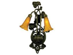 Meyda Tiffany Amber Pond Lily Two-Light Wall Sconce