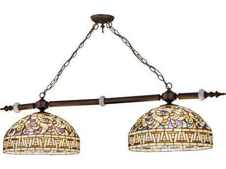 Meyda Lighting Cockatoo Feathers Beige Yellow 53'' Pendant Light