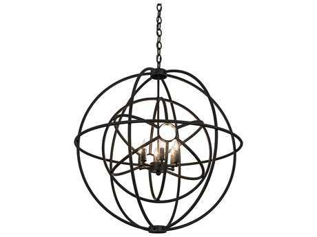 Meyda Lighting Atomic Energy Timeless Bronze Six-Light 30'' Wide Pendant Light