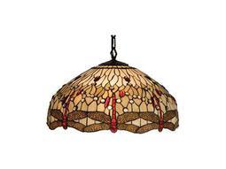 Meyda Tiffany Hanginghead Dragonfly Three-Light Pendant