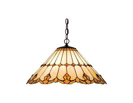 Meyda Tiffany Nouveau Cone Three-Light Pendant