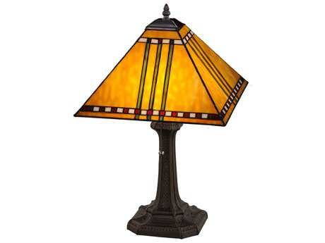 Meyda Tiffany Prairie Corn Mahogany Bronze Table Lamp