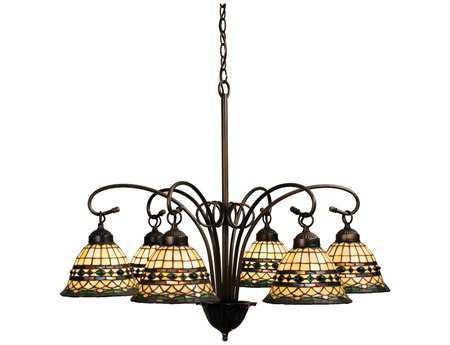 Meyda Tiffany Roman Six-Light 31 Wide Chandelier