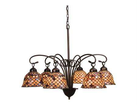 Meyda Tiffany Fishscale Six-Light 31 Wide Chandelier