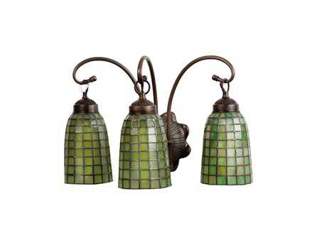 Meyda Tiffany Terra Verde Three-Light Vanity Light