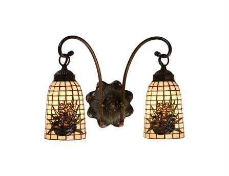 Meyda Tiffany Pine Barons Two-Light Wall Sconce
