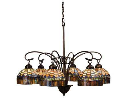 Meyda Tiffany Candice Six-Light 31 Wide Chandelier