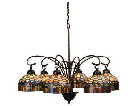 meyda tiffany candice sixlight 31 wide chandelier - Tiffany Chandelier