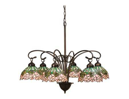 Meyda Tiffany Cabbage Rose Six-Light 31 Wide Chandelier