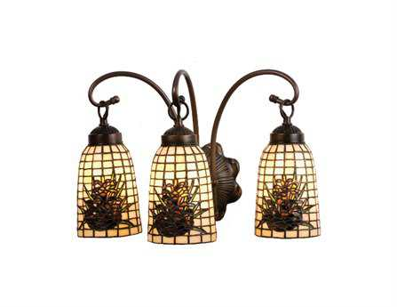 Meyda Tiffany Pine Barons Three-Light Vanity Light