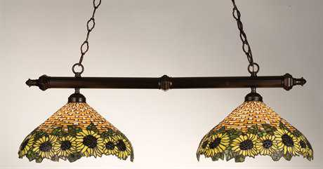 Meyda Tiffany Wicker Sunflower Two-Light Island Light