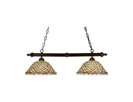 Meyda Tiffany Diamond & Jewel Two-Light Island Light