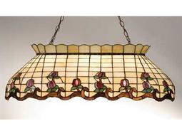 Meyda Tiffany Roseborder Oblong Six-Light Pendant