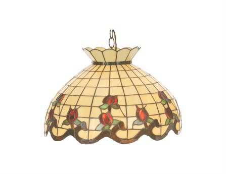 Meyda Tiffany Roseborder Three-Light Pendant
