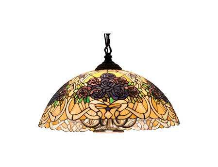 Meyda Tiffany Rose Bouquet Swag Seven-Light Pendant
