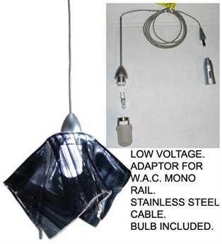 Meyda Tiffany Noir Swirl Handkerchief Fused Glass Mini-Pendant