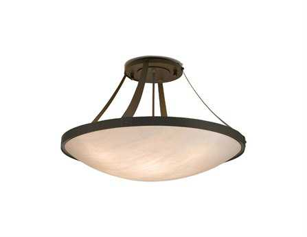 Meyda Tiffany Urban Eight-Light Semi-Flush Mount Light